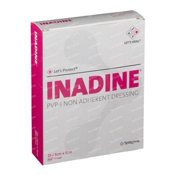 Inadine PVP 5cm x 5cm 25 st