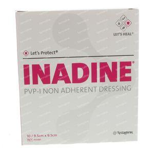 Inadine PVP 9,5cm x 9,5cm 10 pièces