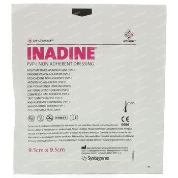 Inadine PVP 9,5cm x 9,5cm 1 pièce