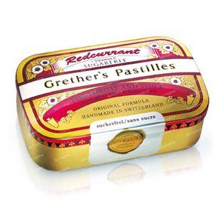 Grethers Pastilles Redcurrant Sans Sucre 110 g