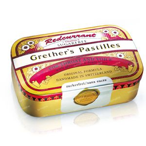 Grethers Pastilles Redcurrant Sugar Free 110 g