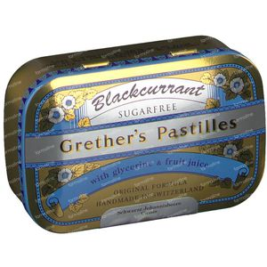 Grethers Pastilles Blackcurrant Suikervrij 110 g
