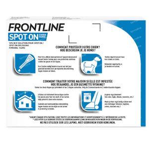 Frontline Spot On Vlooien en Teken Hond M 10-20kg 3 pipet(ten)