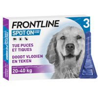 Frontline Spot On Vlooien en Teken Hond L 20-40kg 3  pipet(ten)