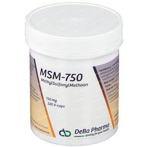 Deba MSM 750 mg 120 capsules