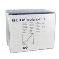 BD Microlance Épingle 20G 1 IV 0.9x25 mm Jaune 100 st