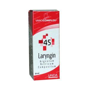 Vanocomplex 45 Laryngin Argentum Nitricum 50 ml druppels