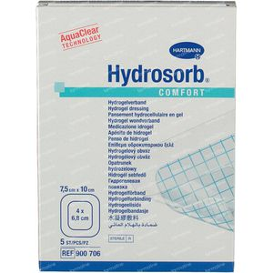 Hartmann Hydrosorb Comfort 7.5 x 10cm 900706 5 stuks