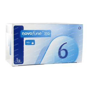 Novofine Wegwerpnaalden  31g 6mm 100 stuks