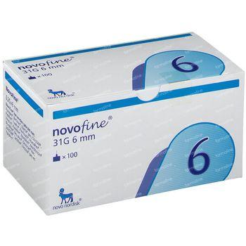 NovoFine® 31g 6mm 100 pièces