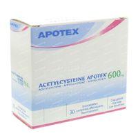 Acetylcysteïne Apotex 600mg 30  bruistabletten