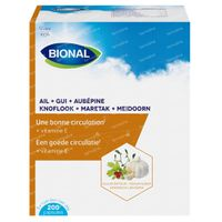 Bional Ail + Gui + Aubépine – Circulation Sanguine et Immunité – Complément Alimentaire à la Vitamine E 200  capsules