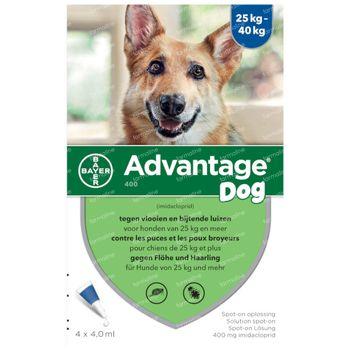 Advantage 400 Spot-On Oplossing Hond 25<40kg 4x4 ml