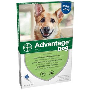 Advantage 400 Spot-On Oplossing Hond 25<40kg 4x4 ml