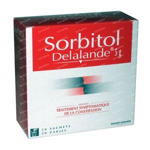 Sorbitol Delalande 5g - Voor Constipatie 20 zakjes