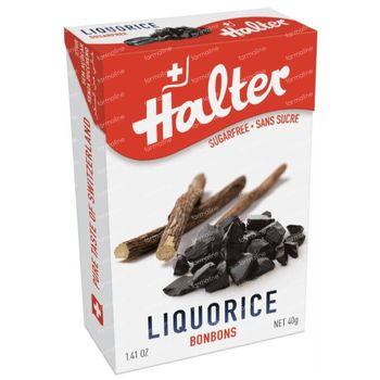 Halter Bonbon Reglisse Sans Sucre 40 g