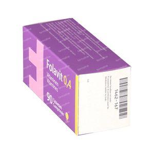 Folavit Acido Folico 0.4mg 90 compresse
