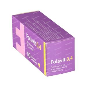 Folavit 0.4mg Acide Folique 90 comprimés