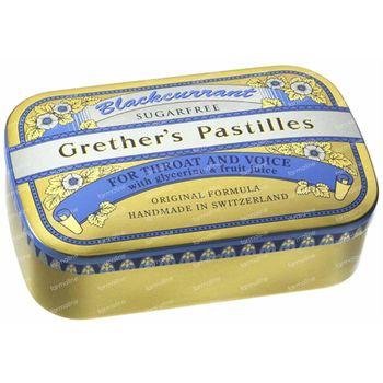 Grethers Pastilles Blackcurrant Sans Sucre 440 g