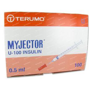 Wegwerpspuit 0,5 ml Terumo Naald 29g1/2 Insuline 05m2913 100 stuks