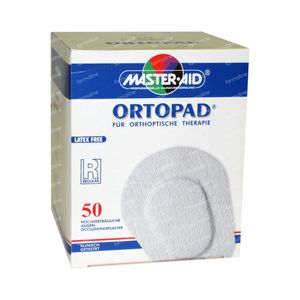 Ortopad Blanc Regular Pans Oculaire 50 pièces