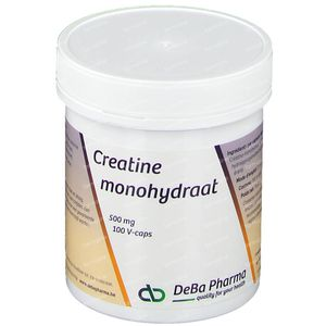 Deba Creatine Monohydraat 500Mg 100 capsules