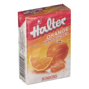 Halter Bonbon Orange Zuckerfrei 40 g