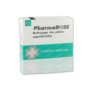 Pharmadose Kompres Antisept Ontsmettend 12 stuks