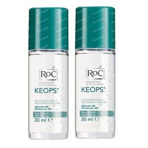 RoC Keops Deodorant Roller Verlaagde Prijs 2x30 ml