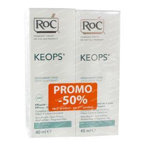 RoC Keops Deodorant Stick Prix Réduit 2x40 ml stick