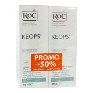 RoC Keops Deodorant Stick Reduced Price 2x40 ml Stick