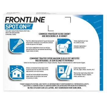 FRONTLINE Spot On Puces et Tiques Chat 6 pipette(s)