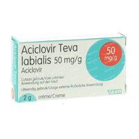 Aciclovir Teva Labialis 2 g crème