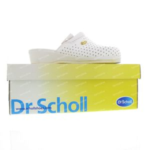 Scholl Backguard Clogs White Leather  Size 38 1 pezzo