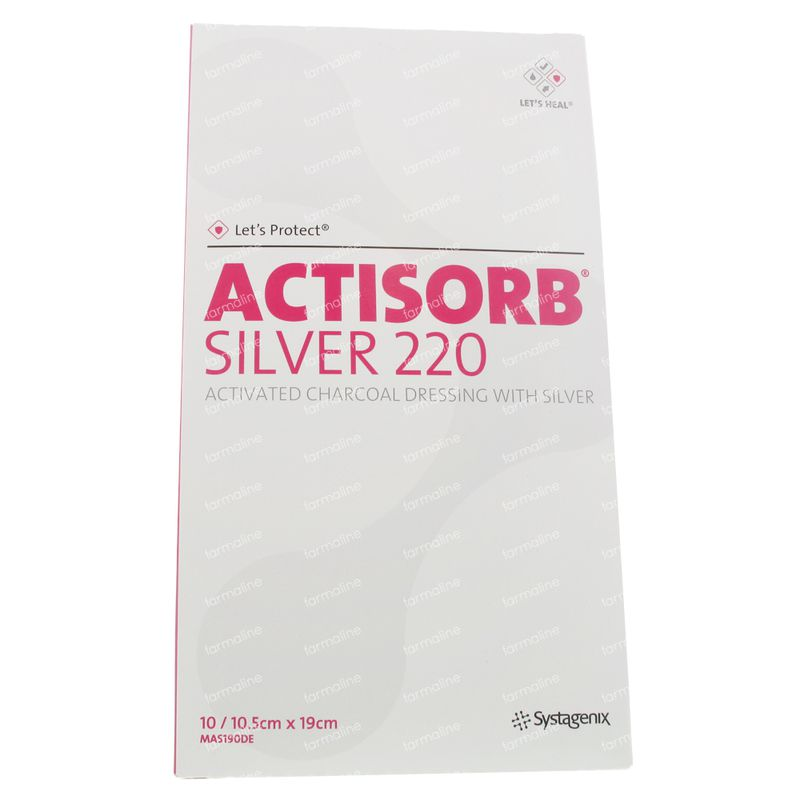 Actisorb silver 220 19cm x 10 pieces order online for Ecksofa 220 x 220