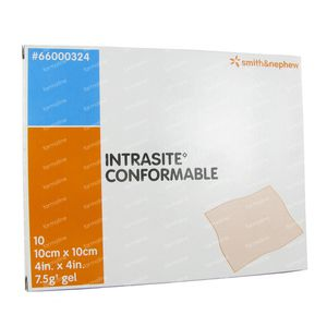 Intrasite Conform 10cm x 10cm 10 st