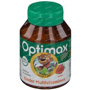Optimax Multivitaminen+ Kind Aardbei 100 kauwtabletten