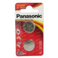 Panasonic Batterij Cr2032 3V 2 st