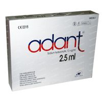 Adant Oplossing Injectie IA 1% 12,50 ml ampoules