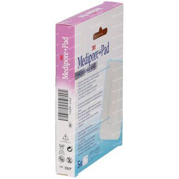 3M Medipore + Pad Sparadrap Chirurgical Avec Compresse Absorbante 5cmx7,2cm 5 st