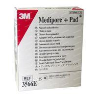 3M Medipore + Pad Pansement Stérile Avec Compresse Absorbante 10cmx10cm 25 st