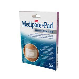 3M Medipore + Pad Adhesief Wondverband 10 x 10cm 3566EP 5 St