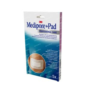 3M Medipore + Pad Adhesief Wondverband 10 x 15cm 3569EP 5