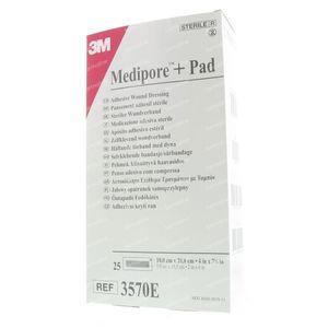 3M Medipore + Pad 10 x 20cm 3570E 25 pièces