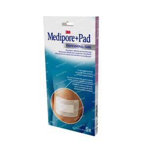 3M Medipore + Pad Adhesief Wondverband 10 x 20 3570EP 5 stuks