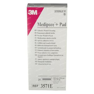 3M Medipore + Pad 10 x 25cm 3571E 25 pièces