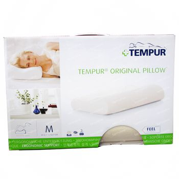 Tempur Coussin + Housse Blanc À Fermeture Éclair 1 pièce