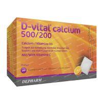 D-Vital Calcium 500/200 Orange Calcium 40  sachets