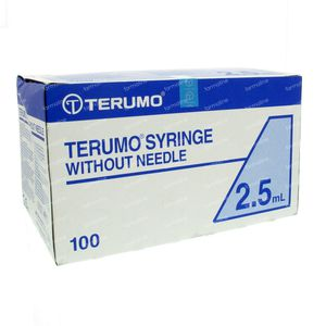 Terumo Disposable Syringe 2.5ml Without Needle Luer SS-02S 100 pieces