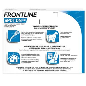 FRONTLINE Spot On Puces et Tiques Chien XL 3 pipette(s)